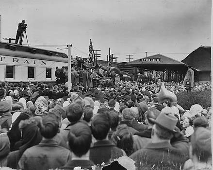Chicago and North Western Historical Society - Friendship Train Rally in Sterling Illinois - 1947