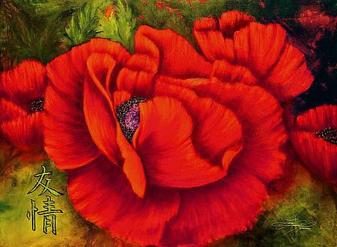 Friendship - Red Poppy by Lynn Lawson Pajunen