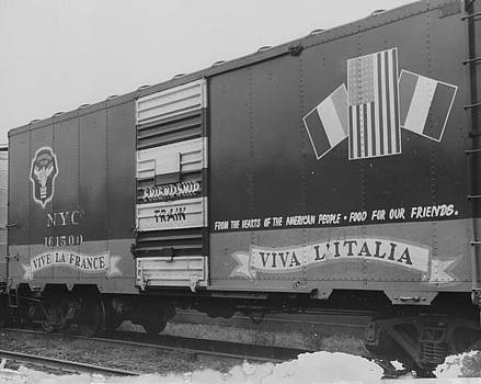 Chicago and North Western Historical Society - Friendship Train Box Car - 1947