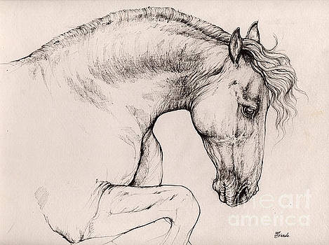Angel Ciesniarska - friesian horse drawing 2015 12 10