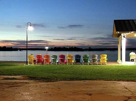 Frink Park Sunset Clayton  by Dennis McCarthy