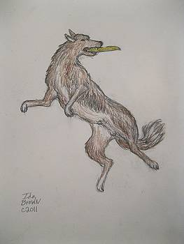 Frisbee Dog by Ida Brown