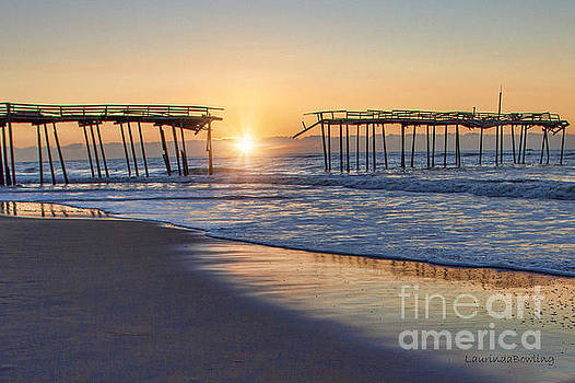 Frisco Pier at Sunrise by Laurinda Bowling