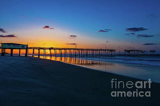Frisco Pier Sunrise Outer Banks North Carolina by Dan Carmichael