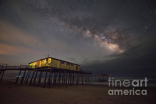 Frisco Pier Under The Milky Way  by Michael Ver Sprill