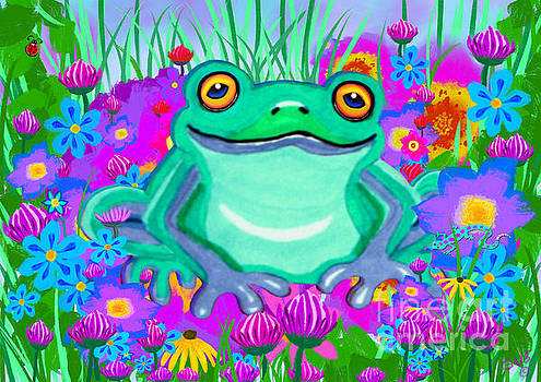 Nick Gustafson - Frog and Spring Flowers