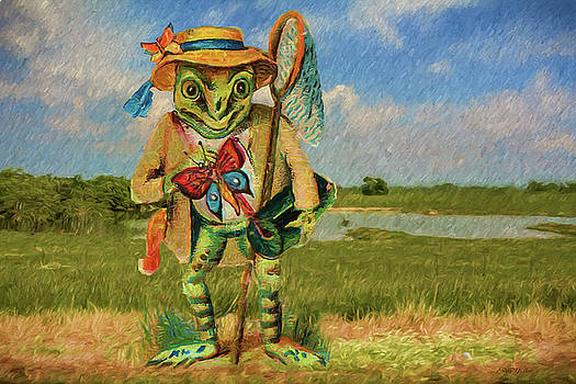 Frog Gone Fishing - Painting by Ericamaxine Price