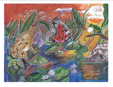 Frog heaven by Everna Taylor