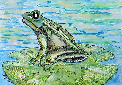 Caroline Street - Frog on a Lily Pad