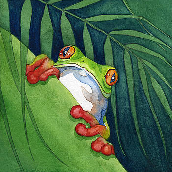 Frog On The Look Out by Lyse Anthony