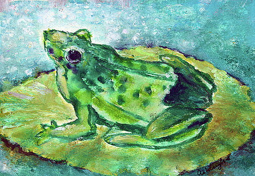 Froggie Green Frog by Ashleigh Dyan Bayer