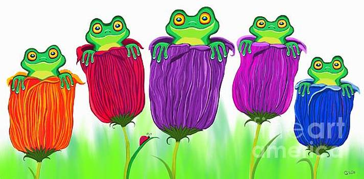 Frogs and Tulips by Nick Gustafson