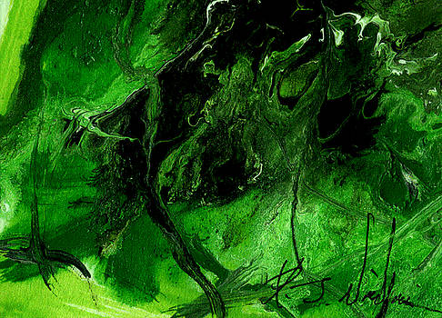 from Green Abstract series--2 of 4 by Rj Williams