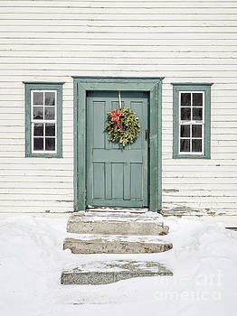 Front door of an old colonial home by Edward Fielding