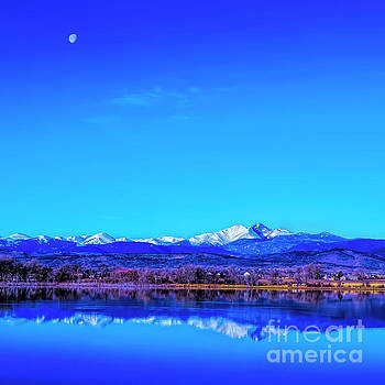 Jon Burch Photography - Front Range View with Moon