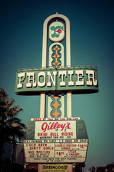 Frontier Hotel Sign, Las Vegas by Paul Warburton