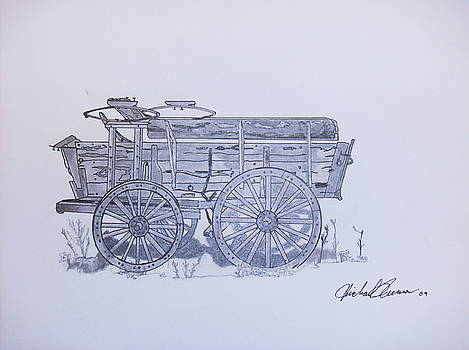 Frontier Wagon by Michael Runner