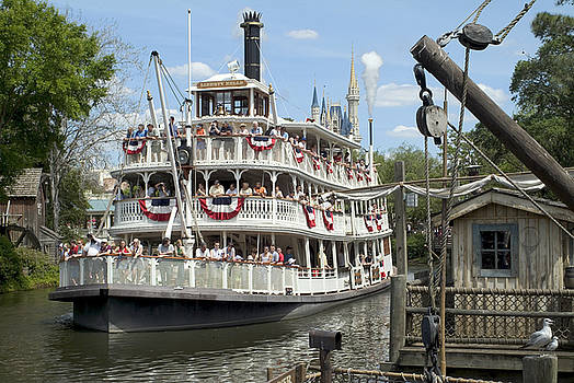 Frontierland Riverboat by Charles  Ridgway