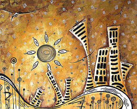 Frosted City by MADART by Megan Duncanson