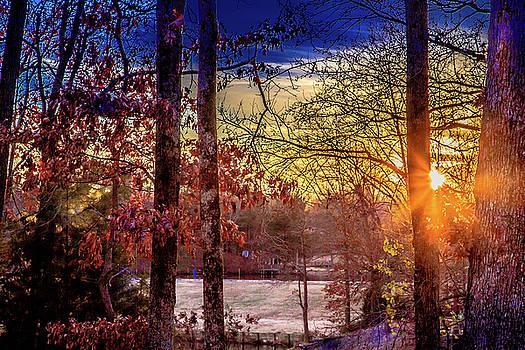Frosty Morning Sunrise by Barry Jones