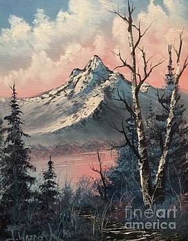 Frosty mountain  by Paintings by Justin Wozniak