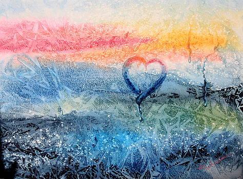 Hanne Lore Koehler - Frosty Window Sunset Love
