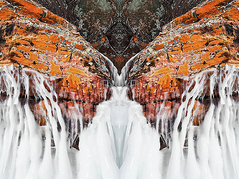 Frozen Apostle Islands Mirror by Kyle Hanson