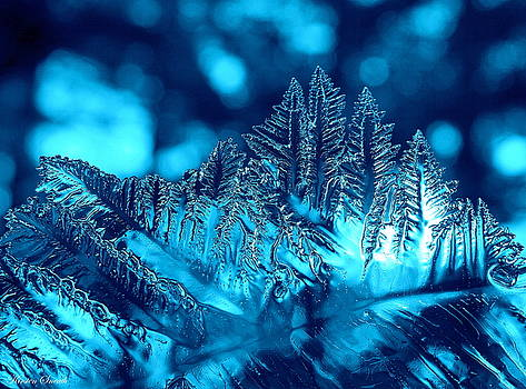 Frozen Blue Abstract by Kirsten Sneath