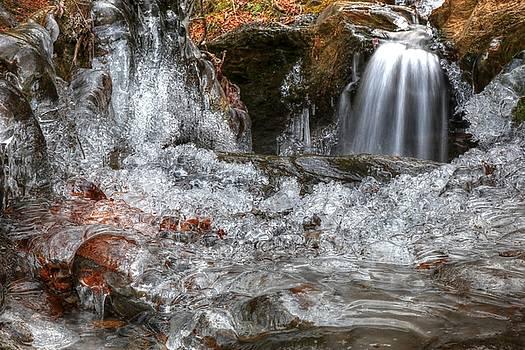 Frozen Ice Pool Formation by Carol Montoya
