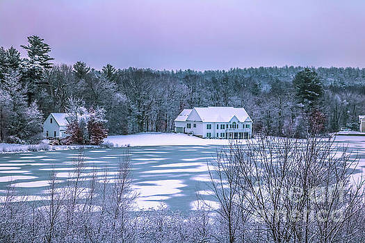 Frozen lake by Claudia M Photography