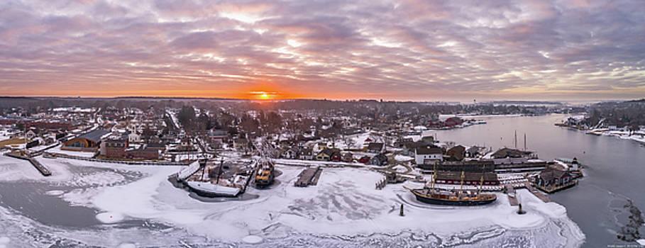 Frozen Mystic Seaport in Mystic CT by Petr Hejl