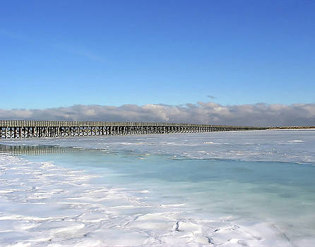 Frozen Over - Duxbury Bay by Steven David Roberts