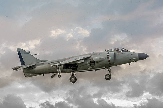 FRS1 Sea Harrier on Vertical Approach by Guy Whiteley