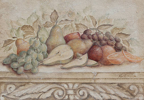 Fruit and Scoll with Pears by Rita   Broughton