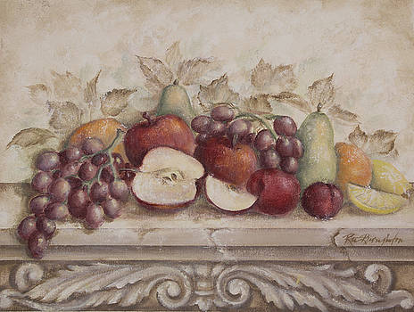 Fruit and Scroll with Apples by Rita   Broughton