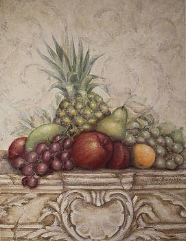 Fruit And Scroll with Pineapple by Rita   Broughton