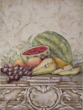 Fruit and Scroll with Watermelon by Rita   Broughton