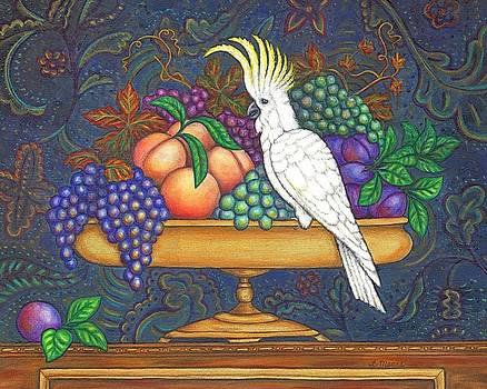Linda Mears - Fruit Bowl and Cockatoo