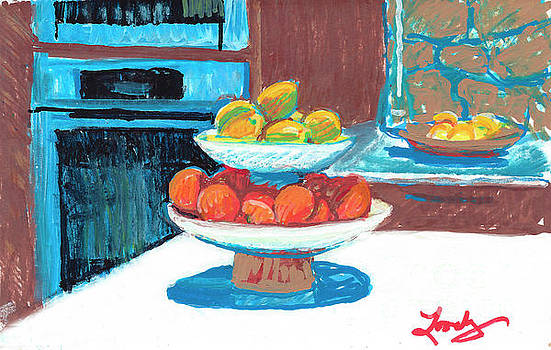 Fruit in the Kitchen by Candace Lovely