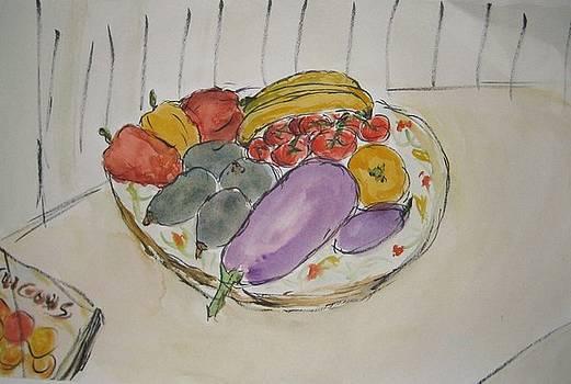 Fruit on a Plate by Bernard Victor