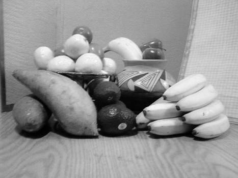 Jamey Balester - Fruit with Yams Black and White