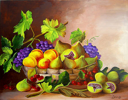 Fruits Laying Perfectly Still by Dominica Alcantara