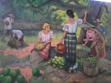 Fruits Seller by Vicente Santos