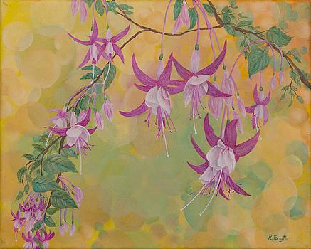 Fuchsias in Bokeh by Karen Forsyth