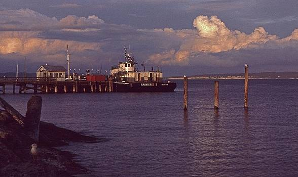 Fuel Dock, Port Townsend by Laurie Stewart