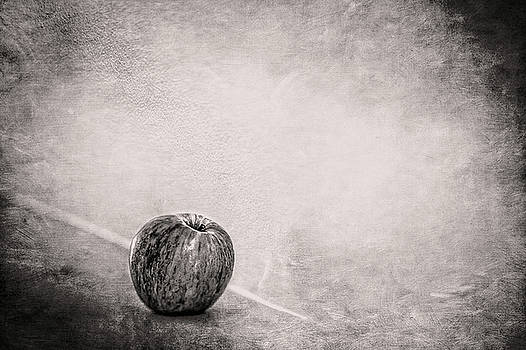 Fuji Apple on Fireplace Mantel in BW by YoPedro