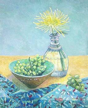 Fuji Mums and Grapes by Gainor Roberts