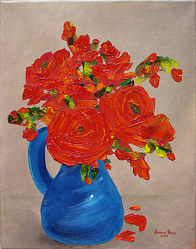 Full Blue Pitcher by Judith Rhue