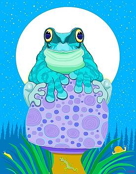 Full moon Froggy  by Nick Gustafson