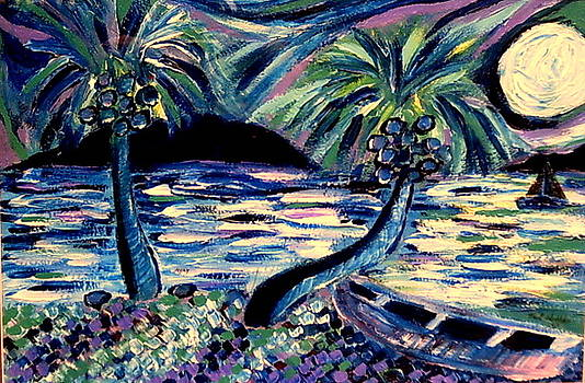 Full Moon In Paradise by Ted Hebbler